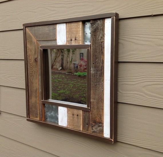 Industrial mirror Rustic Mirror Vintage mirror Rustic