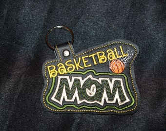 Vinyl Keychain- Basketball Mom