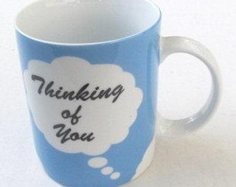 """Teleflora Gift """"Thinking Of You"""" Paraglazed Porcelain Coffee Mug 11oz"""