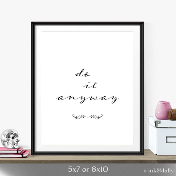 Items similar to motivational quote inspirational print for Inspirational items for office