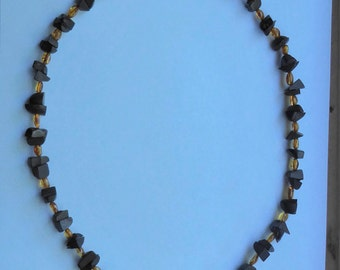 Whitby Jet and Baltic Amber Necklace