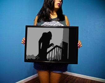 Nosferatu Digital Print - A Symphony of Horror - Horror Collectible