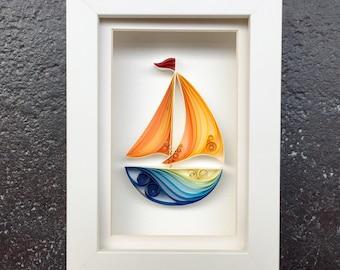 "Quilled Paper Art: ""Sail Away"""