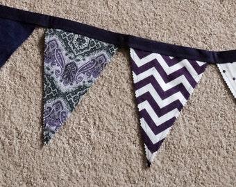 Fabric Banner - Purple