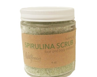 Spirulina Face and Body Balancing Scrub - Natural Sugar Scrub