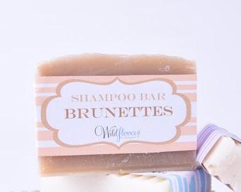 Shampoo Bar - BRUNETTE Hair Shades / Natural Shampoo