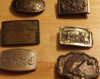 Vintage Collector Buckles Ships Free