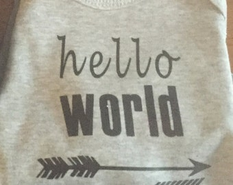 Hello World Iron-On Decal