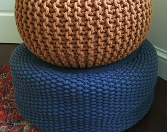 Vintage Mid Century Modern / Hollywood Regency Woven Pouf / Ottoman - Eames