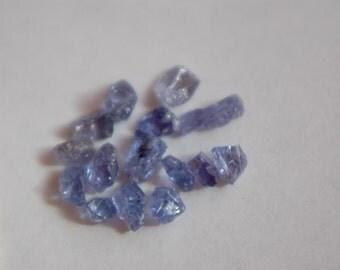 Tanzanite rough Lot - Tanzanite crystals - 11.73 ct - great Color - XLNT Clarity - unpolished - from Tanzania - Color Change