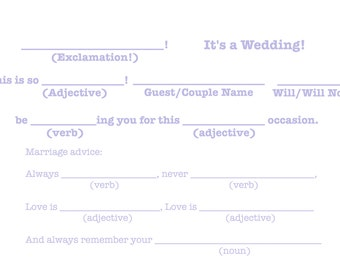 "Mad-Lib R.S.V.P ""It's a wedding!"" Template - Periwinkle"