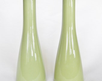 Mikasa Cera-Stone Japan Salt And Pepper Shakers - Light Green