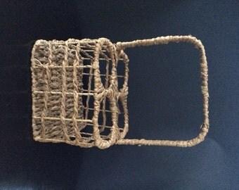 Vintage Beverage Wine Basket