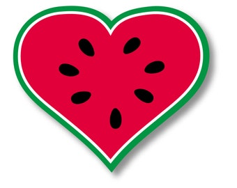 "1 ""I Love Watermelon"" Printed Durable Bumper Sticker - Indoor or Outdoor"
