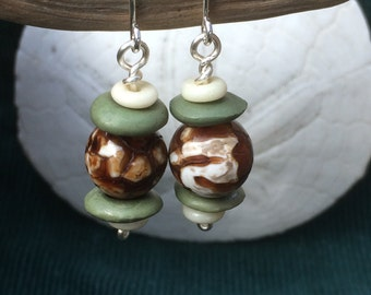 Natural Turtle Shell Earrings
