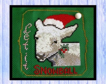 Christmas Cross Stitch, SHEEP, Original Chart, Instant PDF Download, Snowball, Lamb, Santa