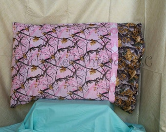 Pillowcase Standard Pink Camoflauge - Personalization included