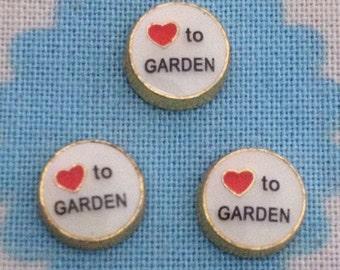 Heart to Garden floating locket charm
