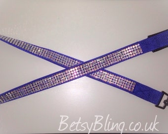 Handmade Crystal Bling Dog lead variety of sizes/colours-FREE UK SHIPPING