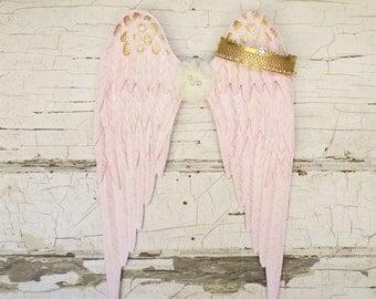 Angel Wings Wall Decor,Metal Angel Wings,Girls Nursery Decor,Angel Wall Decor,Angel Wings,Baby Girl Nursery,Girls Room Decor,Baby Room Decor