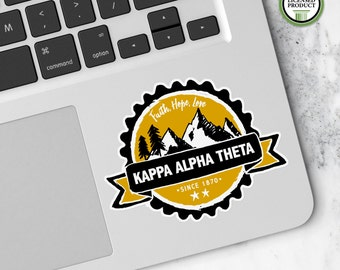 Kappa Alpha Theta KAT   Small Badge Decal   Sorority Big Little Reveal Gift   Official Licensed Product   KAT-BD