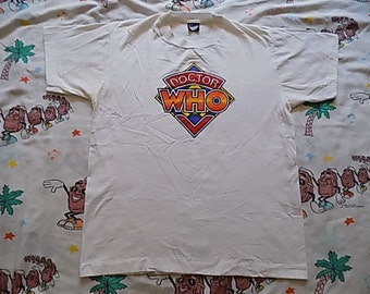 Vintage 80's Doctor Who T shirt, size Large BBC Screen Stars Best