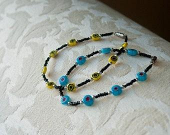 Millefiori Bracelet Set
