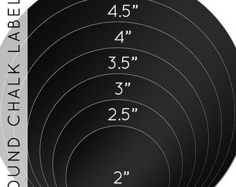 "Round Chalkboard labels 12-pk  2"", 2.5"", 3"", 3.5"", 4"", 4.5"", 5"""