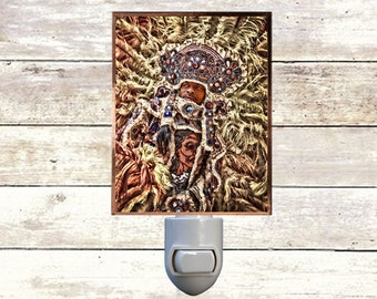 "Night Light ""Dreamin"", Handmade, Copper Foiled, New Orleans art"