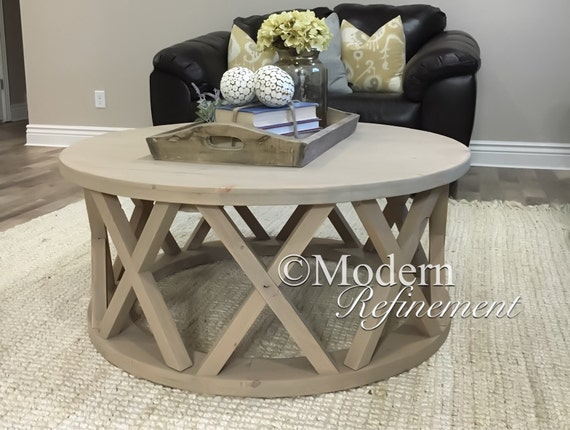 Small Round Rustic Side Tables: Gorgeous Rustic Round Farmhouse Coffee Table