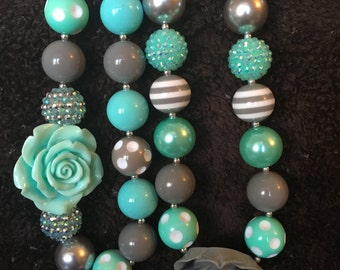 Grey and Turquoise Necklace