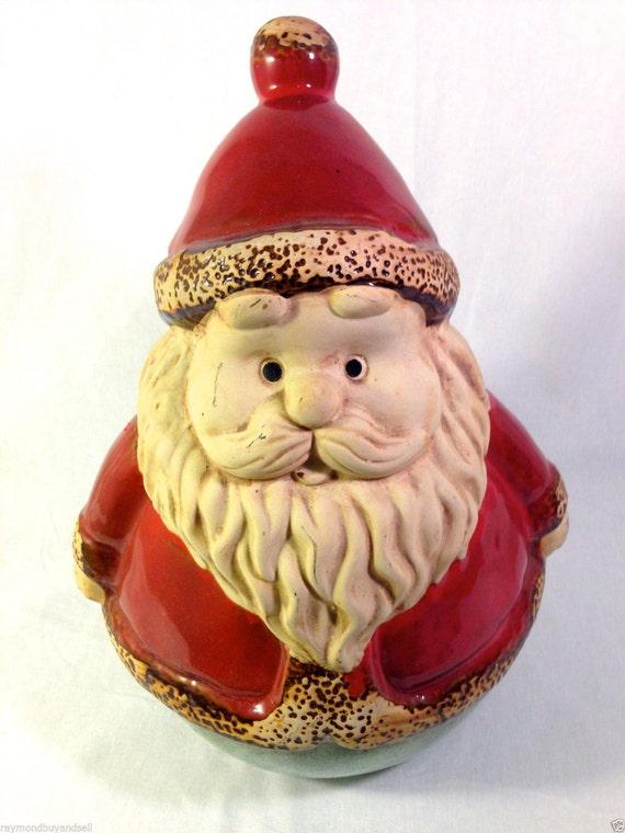 Vintage large santa claus ceramic statue figurine x