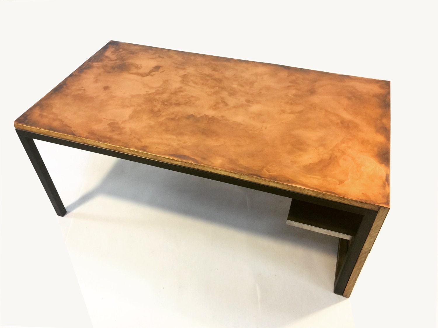 Copper Waterfall Coffee Table