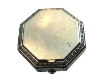 Art Deco Larzell Vintage Powder Octagonal Compact 1930's / Vanity Item / Purse Accessory