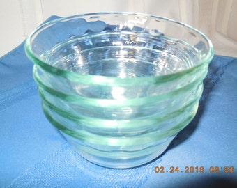 Pyrex clear bowls 10 oz or 300 ml size.