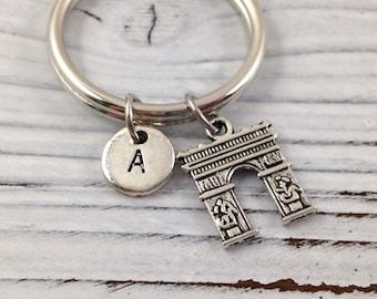 Arc de Triomphe Paris Key Chain, Arc de Triomphe Keychain, Paris Keychain, Personalized Keychain, Custom Keychain, Paris Souvenir