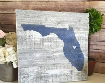 Florida Pallet Sign - Custom Wood State Sign - Wood State Sign