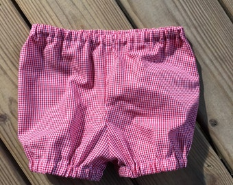 Boys girls gingham bubble shorts, bloomers, baby, toddler, diaper cover, summer shorts, summer outfit