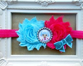 Mittens Fluff 'N' Stuff Lalaloopsy headband, Lalaloopsy bow, Lalaloopsy baby headband, Lalaloopsy Birthday bow