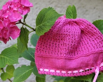 Hydrangea Baby Hat Knitting Pattern