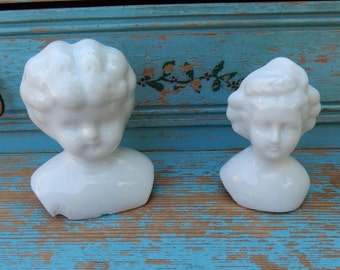 Two German Antique Doll Heads ~ One is Unusual ~ (SH4)