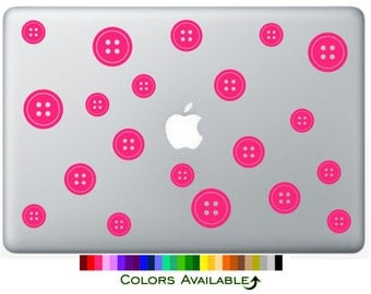 Buttons Laptop Decal