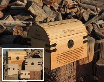 X-Large Time Capsule / Wedding / Memory / Keepsake / Card Box Wood Burned Custom Pyrography