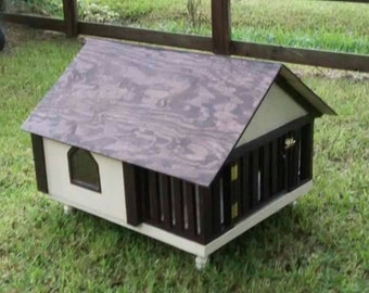 Small 24x36x36 with 12 inch porch Dog/small pet house/kennel