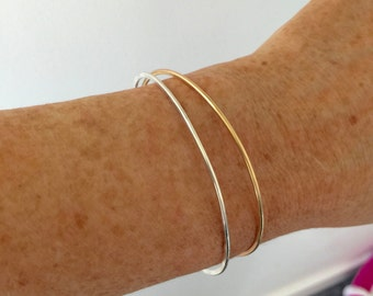 Gold Filled or Sterling Silver Bangle
