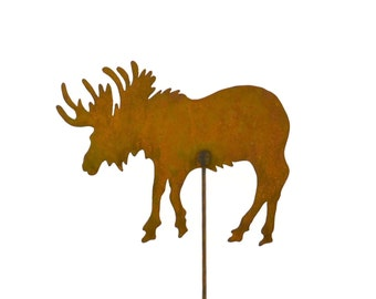 Moose Metal Garden Stake, Yard Art GS50