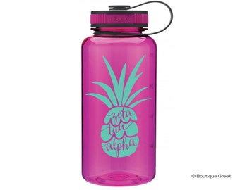 ZTA Zeta Tau Alpha Pineapple Water Bottle