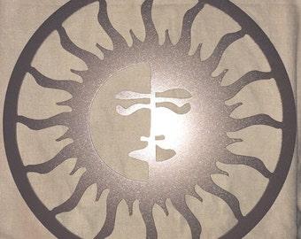 Day night sun moon wall art, Outdoor Metal Art- Sun Moon, Outdoor Art, Pool Art, Custom Metal Art, Metal Wall Art