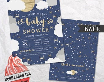 Star Wars - That's No Moon! - Baby Shower Invitation