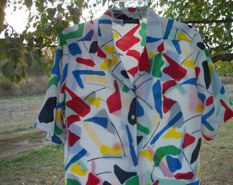 80S FANCY PAINTBOX COLORS Shirt, 8 to 10